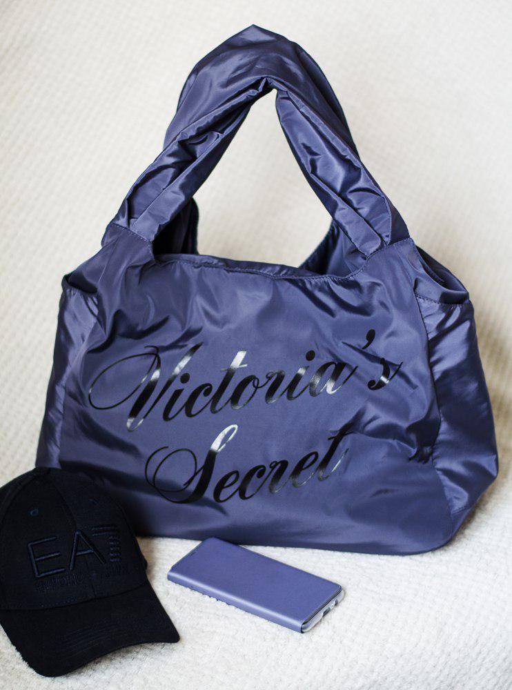 """Сумка женская сине- серая спортивная  """"Victorias Secret"""""""