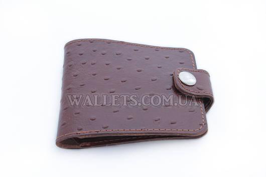 Мужской кожаный кошелек VIVA, компактный, коричневый