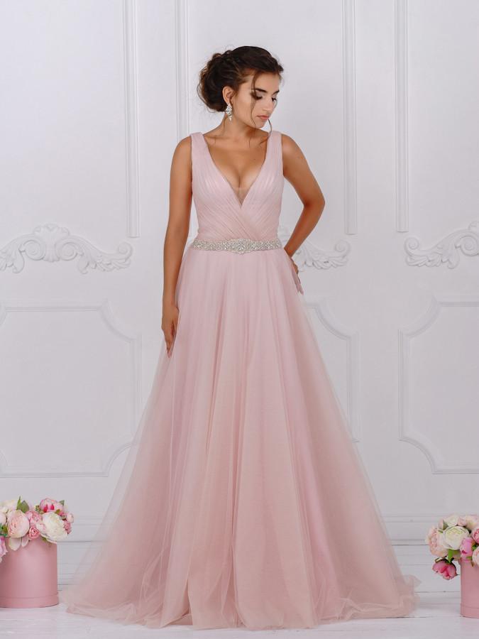 c69b8ec5e37799d Свадебное платье Amour Bridal Принцесса 46 р., пудровый: продажа ...