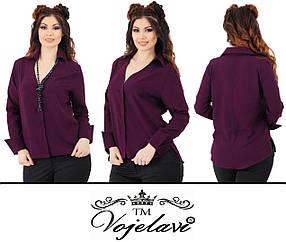 Женская блузка с удлиненной спинкой (Арт. KL115/Burgundy)