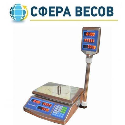Весы торговые Днепровес F902H-15EDS (15 кг), фото 2