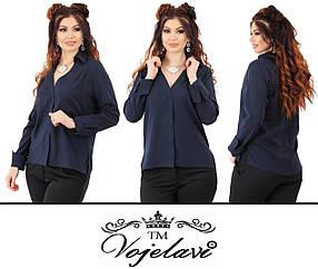 Женская блузка с удлиненной спинкой (Арт. KL115/Inky)