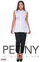 Блузка Венеция (52 размер, белый) ТМ «PEONY»