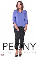 Блузка Кайман (48 размер, джинс) ТМ «PEONY»