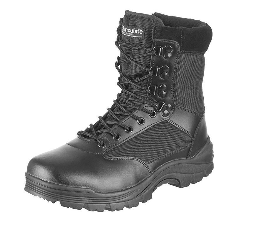 Ботинки MIL-TEC с застёжкой-молнией чёрные 12822102 размеры: 40-46