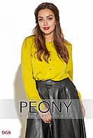 Блузка Лунд (50 размер, горчица) ТМ «PEONY»
