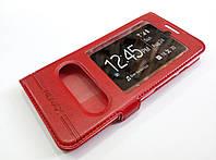 Чехол книжка с окошками для Asus Zenfone 5 A500CG / A501CG / A500KL красный