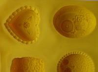 """Форма силиконовая для мыла """"Ромашки-ассорти"""", арт. П-1160"""