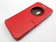 Чехол книжка с окошком для Asus Zenfone 5 A500CG / A501CG / A500KL красный