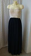 Платье вечернее с бисером TFNC London р.44 7747