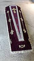 Гробы - драпировка велюр (бордо)