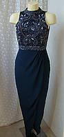 Платье вечернее в пол с бисером Lace&beads р.42-44 7751, фото 1