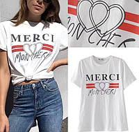 Женская футболка Merci  (42-44р) 77П1327