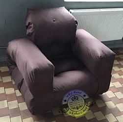 Раскладное кресло кровать Хиппо коричневое