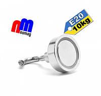 Крепежный неодимовый магнит, держатель, с крючком Е20, 10кг☀ПОЛЬША☀N42☀ГАРАНТИЯ 30лет☀