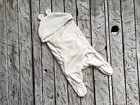 Универсальный махровый спальник-человечек конверт кокон для малышей с 6 до 12 месяцев ТМ MagBaby Молочный