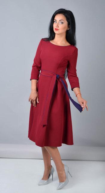 Женское теплое платье из костюмного крепа
