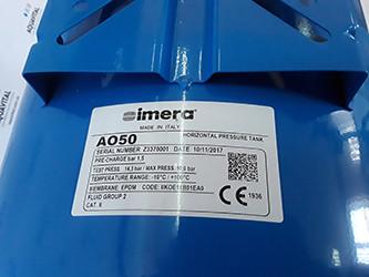 конструкция гидроаккумулятора Imera AO50