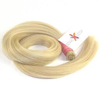 Срез натуральных славянских волос блонд