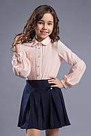 """Цветная блуза для девочки с кружевом """"Донна"""""""
