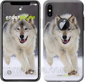 "Чехол на iPhone X Бегущий волк ""826c-1050-7794"""