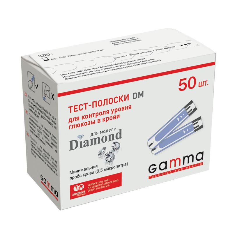 Тест-полоски Gamma Diamond №50 (Гамма DM 50 шт) срок годности до 12. 2020