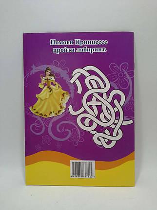 Раскраска BamBook А5 (90 наклеек) Принцессы Цветной фон на каждой странице, фото 2