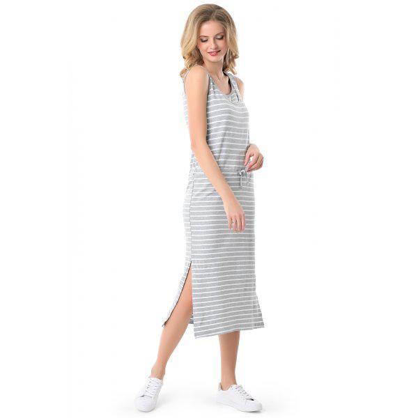 """Платье """"Прайда"""" для кормящих серый меланж/белый"""