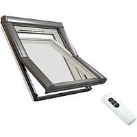 Мансардное окно Designo Rototronic WDT R45K HE пластик ПВХ 5x7 Roto / Рото дистанционное управление