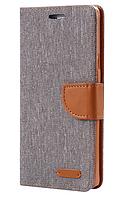 Стильный чехол-книжка для Samsung Galaxy S6 серый