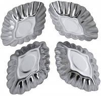 8669 Форма для выпечки кексов набор 4 шт, кондитерские принадлежности