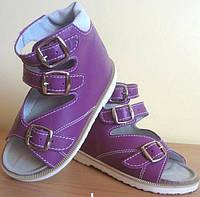"""Ортопедичне взуття дитяче босоніжки для дівчаток """"Весна"""" сиреневі"""