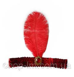 """Повязка для волос """"Восточная"""" (красная, карнавальная)"""