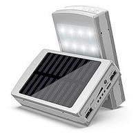 Solar Charger Power Bank 25 000 mAh НА СОЛНЕЧНЫХ БАТАРЕЯХ+LED- СО СКИДКОЙ 50%, фото 1