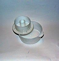 Форма для сыра круглая с поршнем 155х65