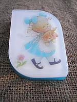 Ароматное яркое мыло ручной работы детское Девочка с котенком