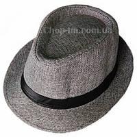 """Шляпа """"Пижон"""" Гавайская (темно-серая с атласной полосой)"""