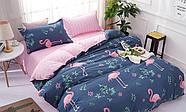 Комплект постельного белья Большой фламинго (двуспальный-евро) Berni, фото 2