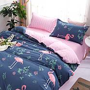 Комплект постельного белья Большой фламинго (двуспальный-евро) Berni, фото 5
