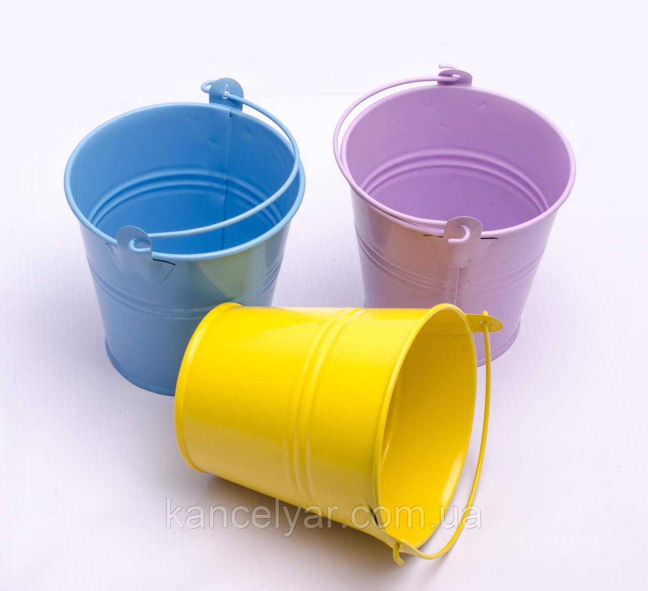 Ведро декоративное цветное, 9.5 см, в ассортименте