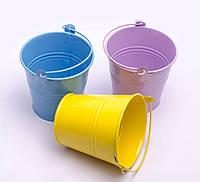 Ведро декоративное цветное, 9.5 см, в ассортименте, фото 1