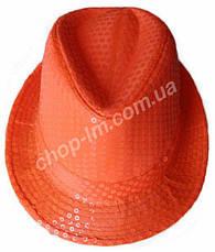 "Шляпа ""Диско"" (оранжевая с блестками), фото 2"