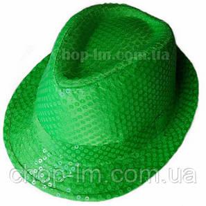 """Шляпа """"Диско"""" (салатовая с блестками), фото 2"""