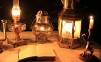 Лампы аварийные, светильники, фонарики.