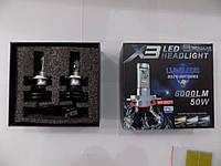 Светодиодные лампы для автомобильных фар LED Headlight X3 H4 50W 8000 K (производство LED,Китай)