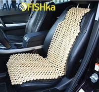 Деревянная массажная накидка на сиденье автомобиля  (нелактрованая)