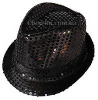 "Шляпа ""Диско"" (черная с блестками)"