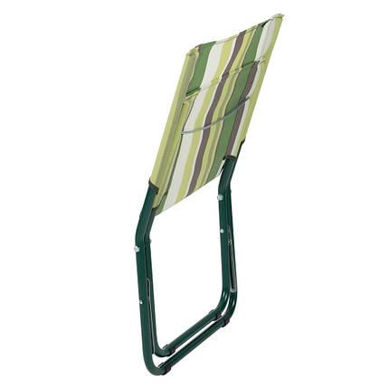 """Шезлонг """"Мини"""" d22 мм (текстилен зеленая полоса), фото 2"""