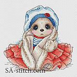 Набор для вышивания крестом Зайка морячка З027, фото 2