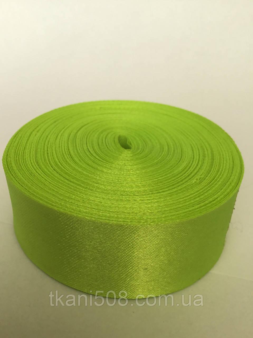 Стрічка 5 см - колір салатовий 17
